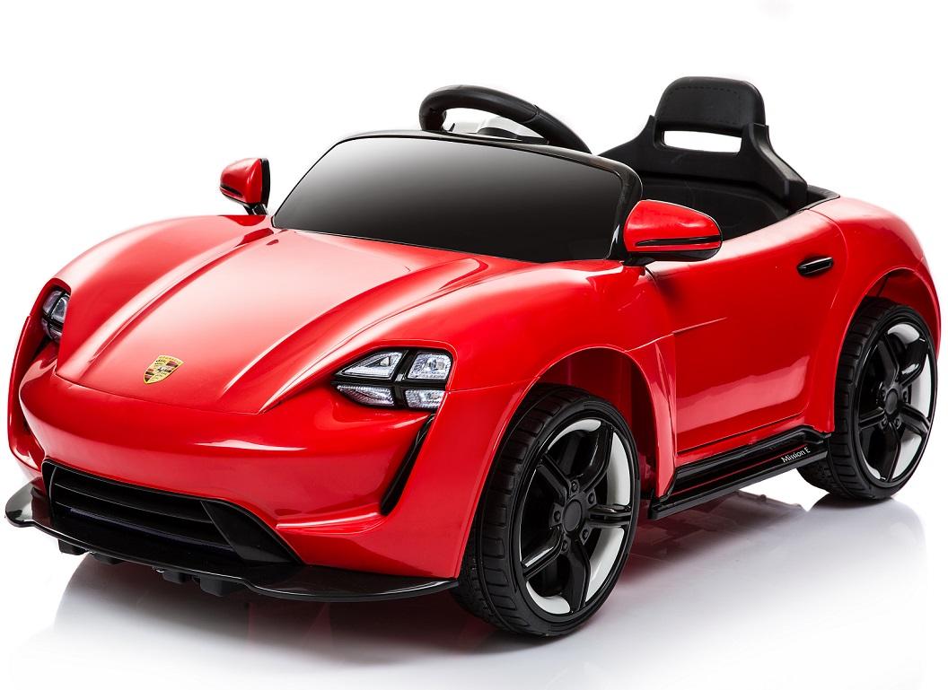 Электромобиль Porsche Sport красныйЭлектромобили, детские машины на аккумуляторе<br>Электромобиль Porsche Sport красный<br>