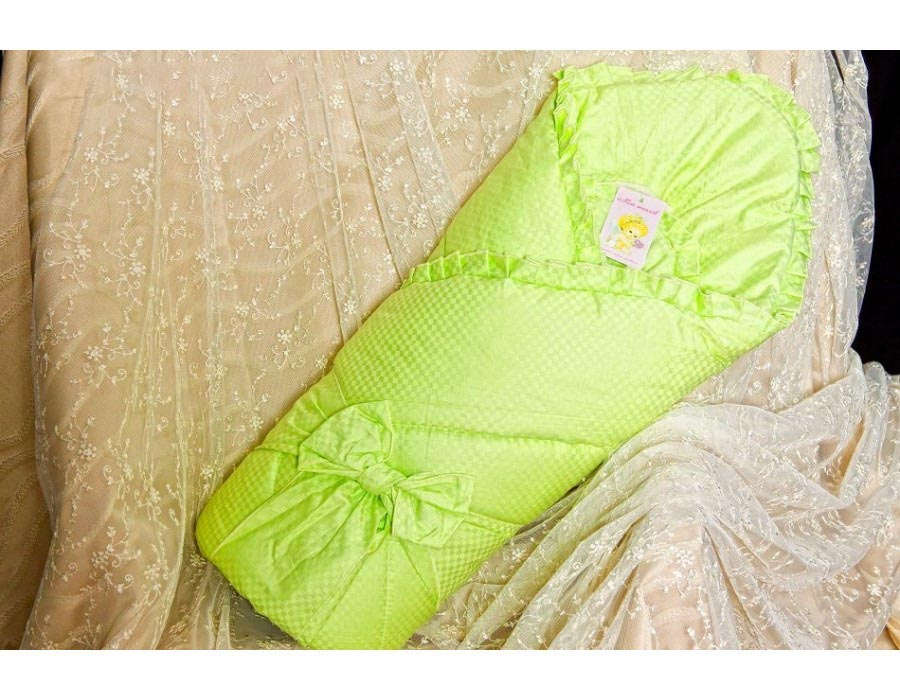Конверт  одеяло на выписку – Солнышко, Р2015, весна, фисташковый - Конверты, комплекты на выписку, артикул: 171320