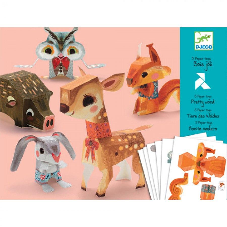 Купить Волшебная бумага – Животные, 6 листов, Djeco