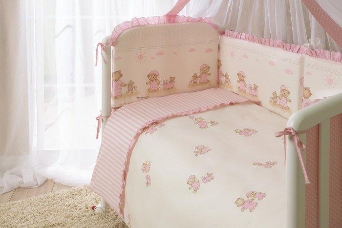 Комплект постельного белья для детей Тиффани, 3 предмета, розовыйДетское постельное белье<br>Комплект постельного белья для детей Тиффани, 3 предмета, розовый<br>