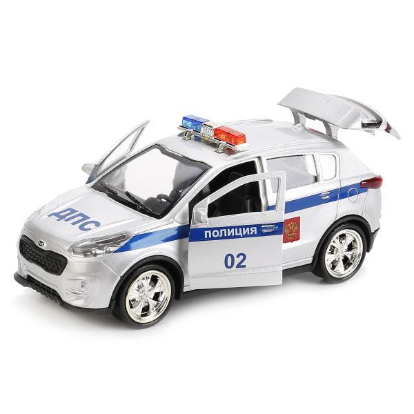 Металлическая инерционная машина - Kia Sportage, 12 см, ПолицияПолицейские машины<br>Металлическая инерционная машина - Kia Sportage, 12 см, Полиция<br>