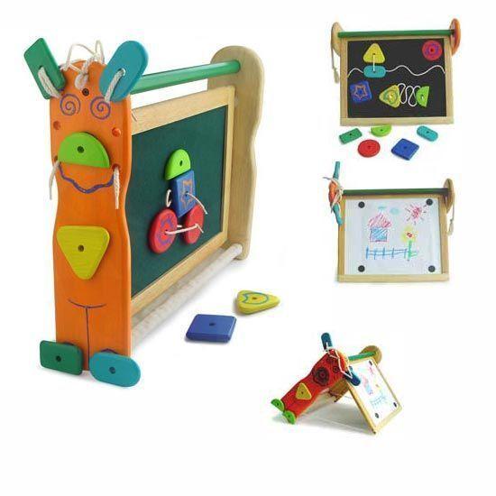 Двусторонняя детская доска для рисования, с фигурками - Мольберты, артикул: 5764