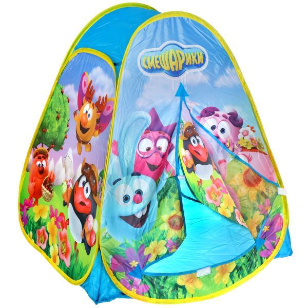 Купить Палатка детская игровая – Смешарики, 81 х 90 х 81 см, в сумке, Играем вместе