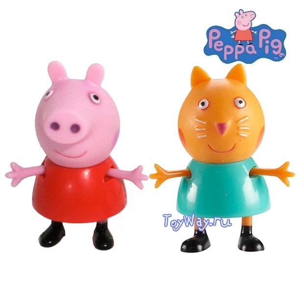 Peppa Pig. Набор  Пеппа и ее друзья  Пеппа и Кошка Кенди - Свинка Пеппа (Peppa Pig ), артикул: 99281