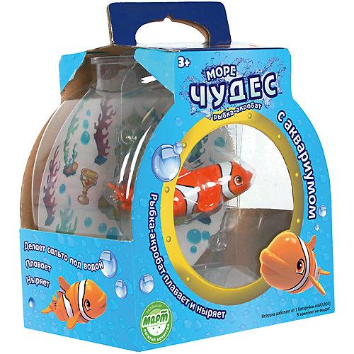 Механическая рыбка–акробат Лаки с аквариумом по цене 759