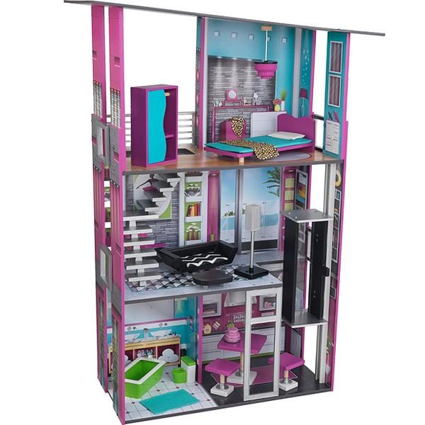 Купить Кукольный дом для Барби - Гламурный с мебелью, KidKraft