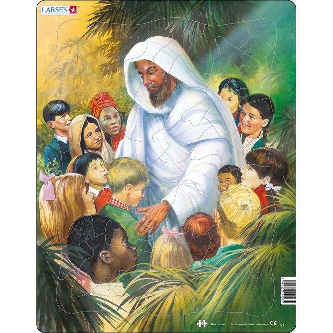 Купить Пазл - Иисус с детьми, 33 элемента, Larsen