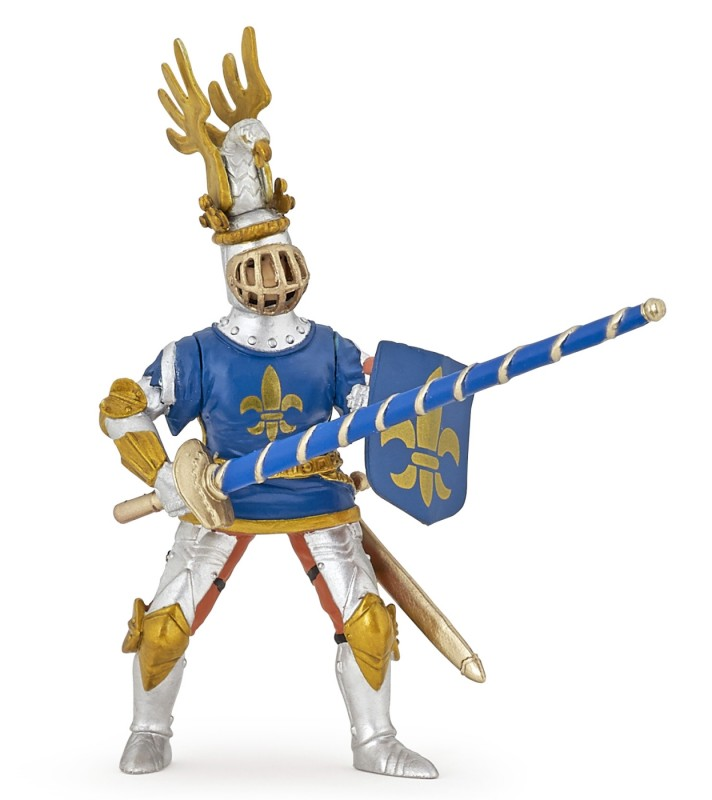 Игровая фигурка - Рыцарь с символом Флер де Лис, синийФигурки Papo<br>Игровая фигурка - Рыцарь с символом Флер де Лис, синий<br>