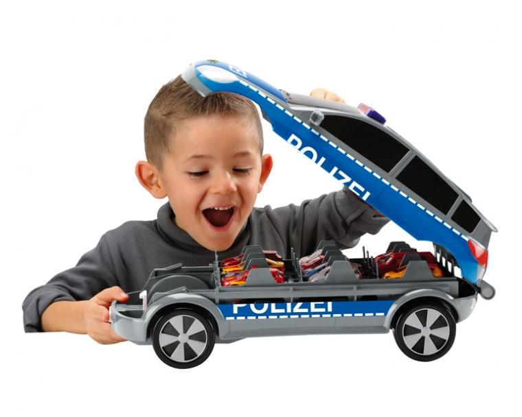 Кейс автомобиль на 24 автомобиля со световыми и звуковыми эффектами, 45смПолицейские машины<br>Кейс автомобиль на 24 автомобиля со световыми и звуковыми эффектами, 45см<br>