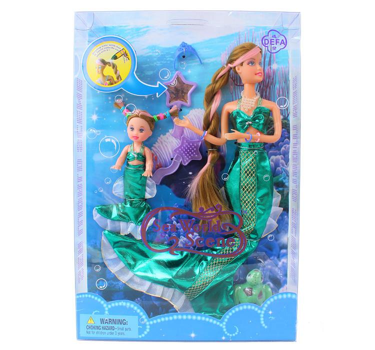 Кукла Defa - Русалочка с ребенком и аксессуарами, 34 см.Куклы Defa Lucy<br>Кукла Defa - Русалочка с ребенком и аксессуарами, 34 см.<br>