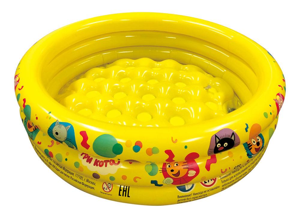 Надувной бассейн Три Кота, 70 х 24 см, с надувным дном