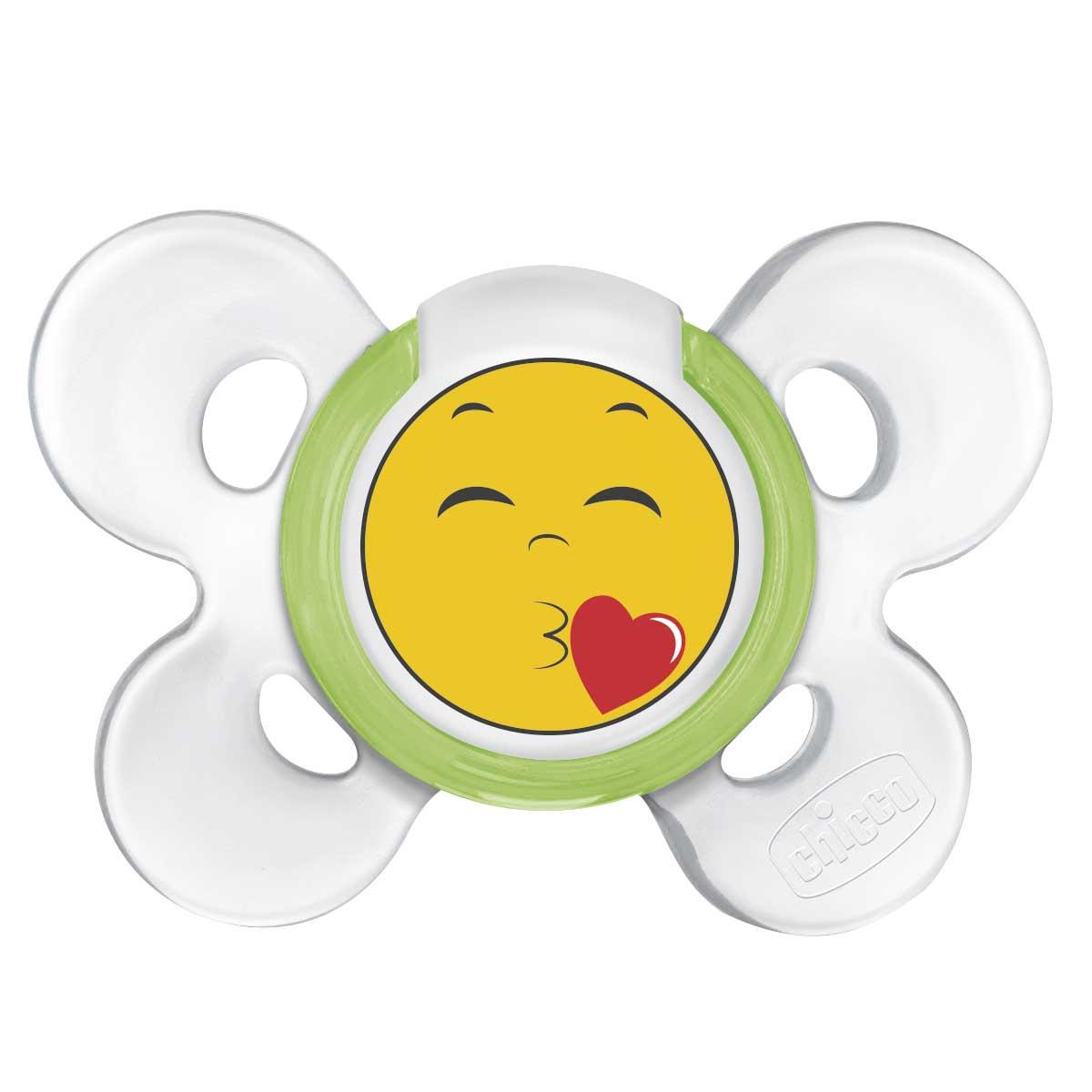 Купить Пустышка Physio Comfort Smile, 1 шт., 6-12 мес., силикон, Chicco