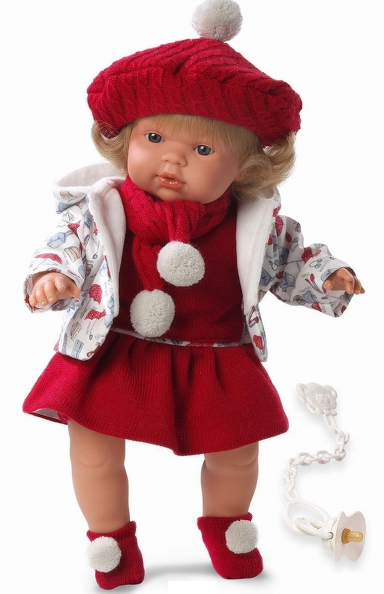 Кукла Клавди в красном берете 38 см., со звукомИспанские куклы Llorens Juan, S.L.<br>Кукла Клавди в красном берете 38 см., со звуком<br>