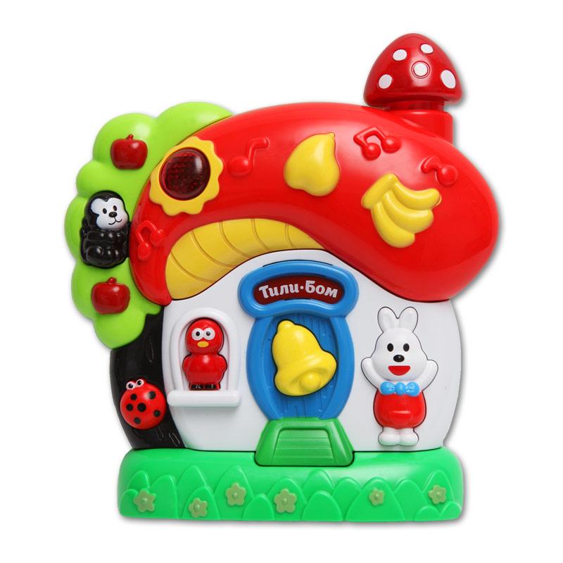 Купить Музыкальная игрушка – Грибок-теремок, свет и звук, Азбукварик