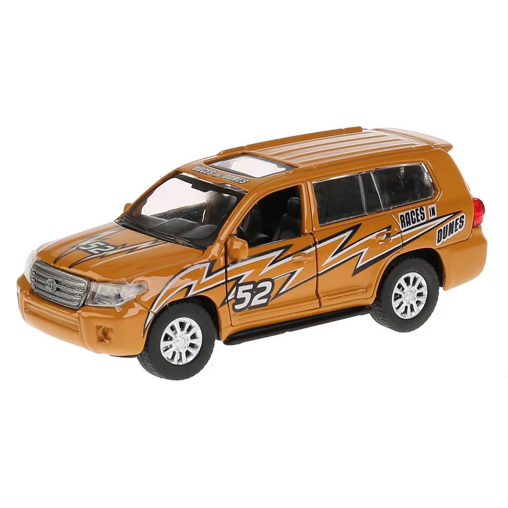 Купить Металлическая инерционная машина Toyota Land Cruiser – Спорт, 12, 5 см, открываются двери, Технопарк