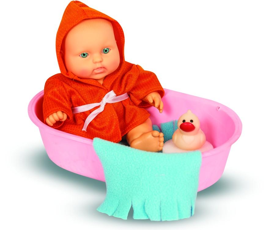Кукла Карапуз мальчик в ванночке, 20 смРусские куклы фабрики Весна<br>Кукла Карапуз мальчик в ванночке, 20 см<br>
