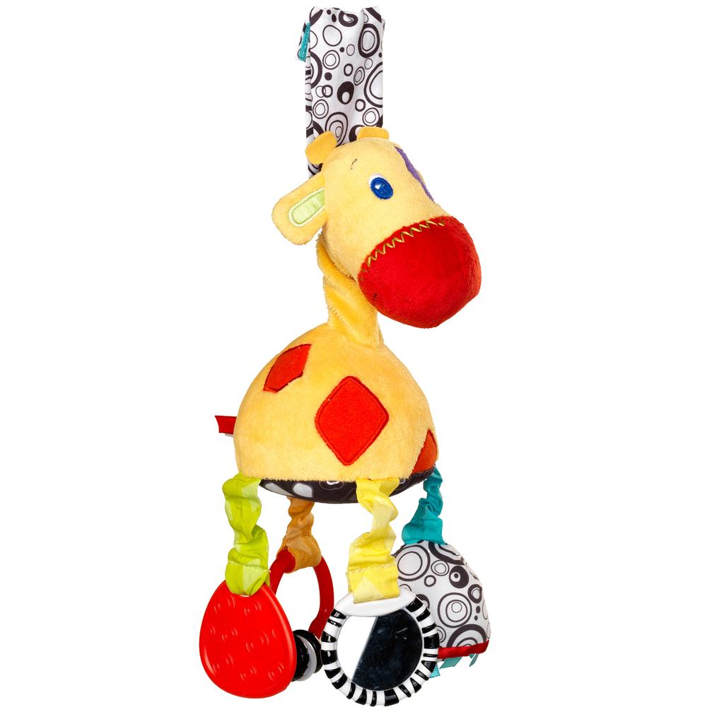 Развивающая мягкая игрушка ЖирафДетские погремушки и подвесные игрушки на кроватку<br>Развивающая мягкая игрушка Жираф<br>