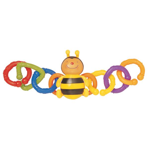 Детская развивающая игрушка для коляски «Пчёлка»Детские погремушки и подвесные игрушки на кроватку<br>Детская развивающая игрушка для коляски «Пчёлка»<br>