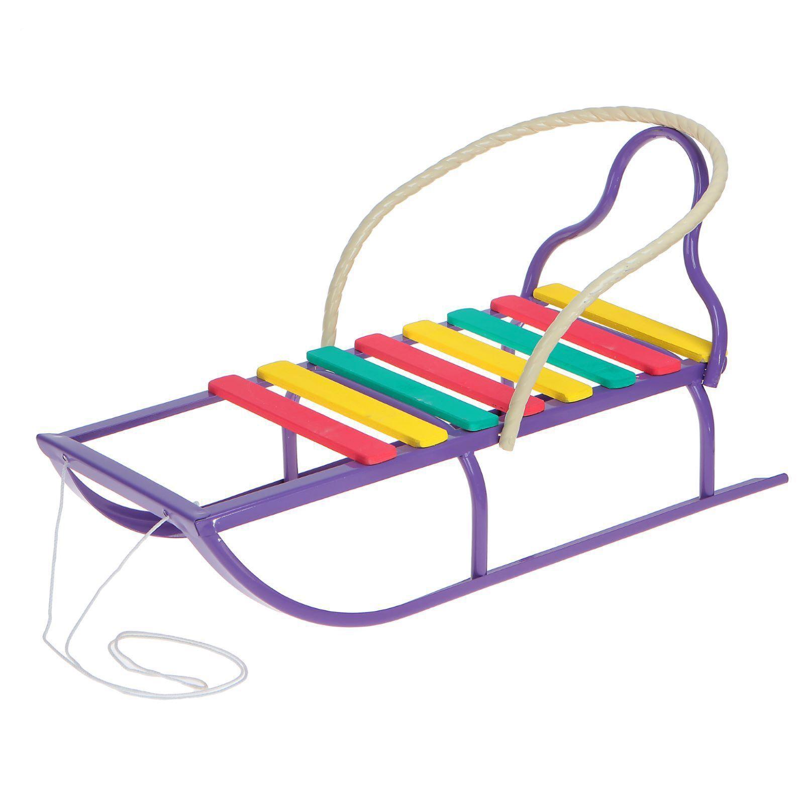 Санки Вятские-2, фиолетовые, без толкателяСанки и сани-коляски<br>Санки Вятские-2, фиолетовые, без толкателя<br>
