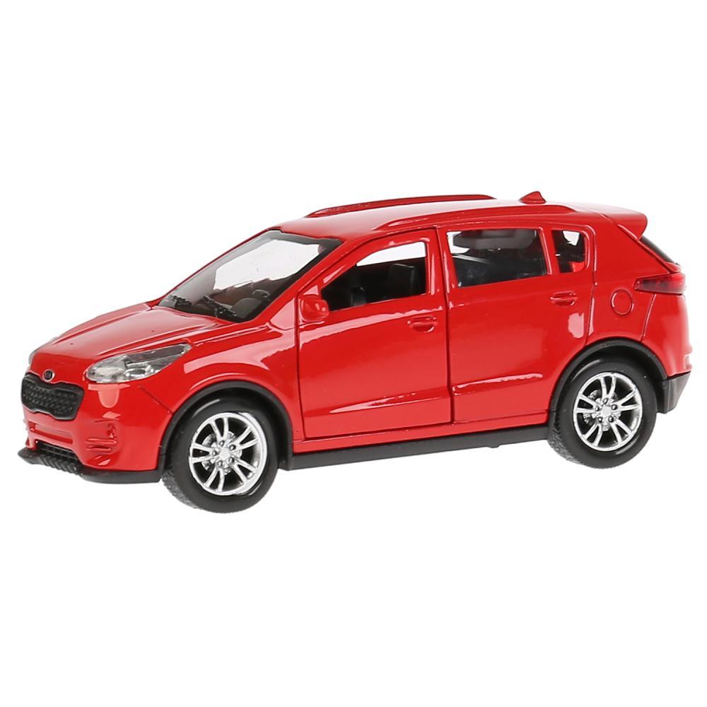 Купить Модель Kia Sportage, красная, 12 см, открываются двери, инерционная, Технопарк