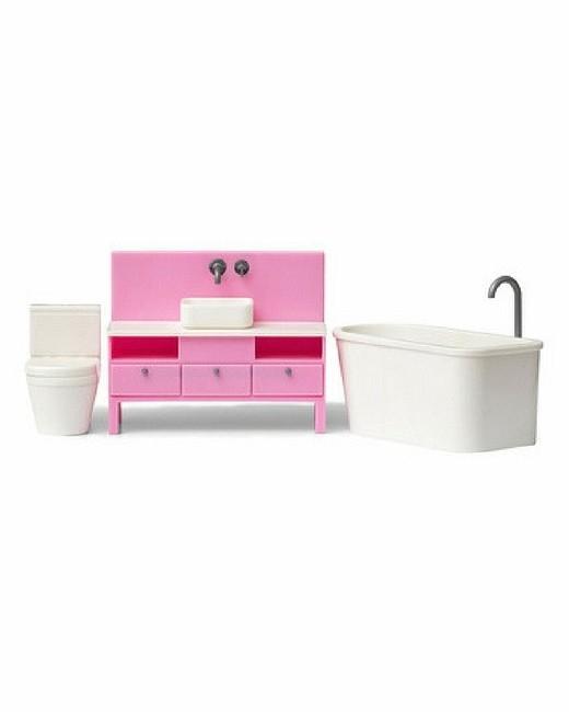 Купить Мебель для кукольного домика Базовый набор для ванной комнаты, Lundby