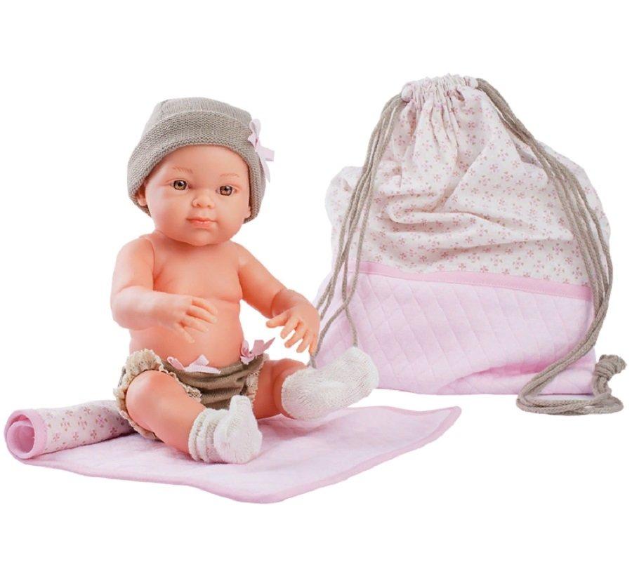 Купить Кукла Бэби с рюкзаком и одеяльцем, 32 см, розовый, Paola Reina