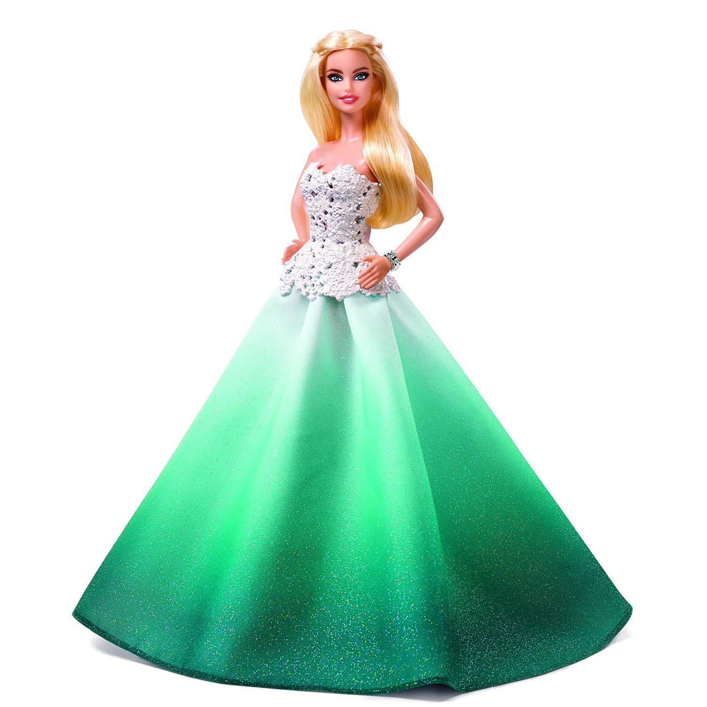 Кукла Barbie ® - Праздничная Barbie в зеленом платьеКуклы Barbie (Барби)<br>Кукла Barbie ® - Праздничная Barbie в зеленом платье<br>