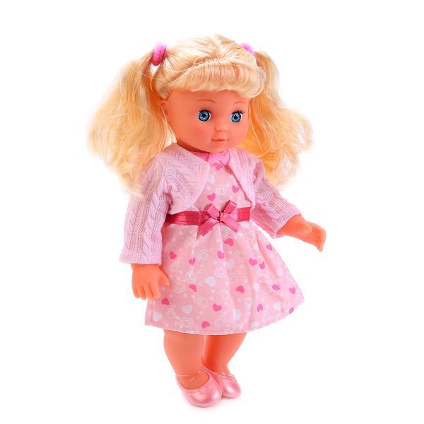 Интерактивная кукла Полина, 25 см, озвученная, стихи и песни А. БартоКуклы Карапуз<br>Интерактивная кукла Полина, 25 см, озвученная, стихи и песни А. Барто<br>