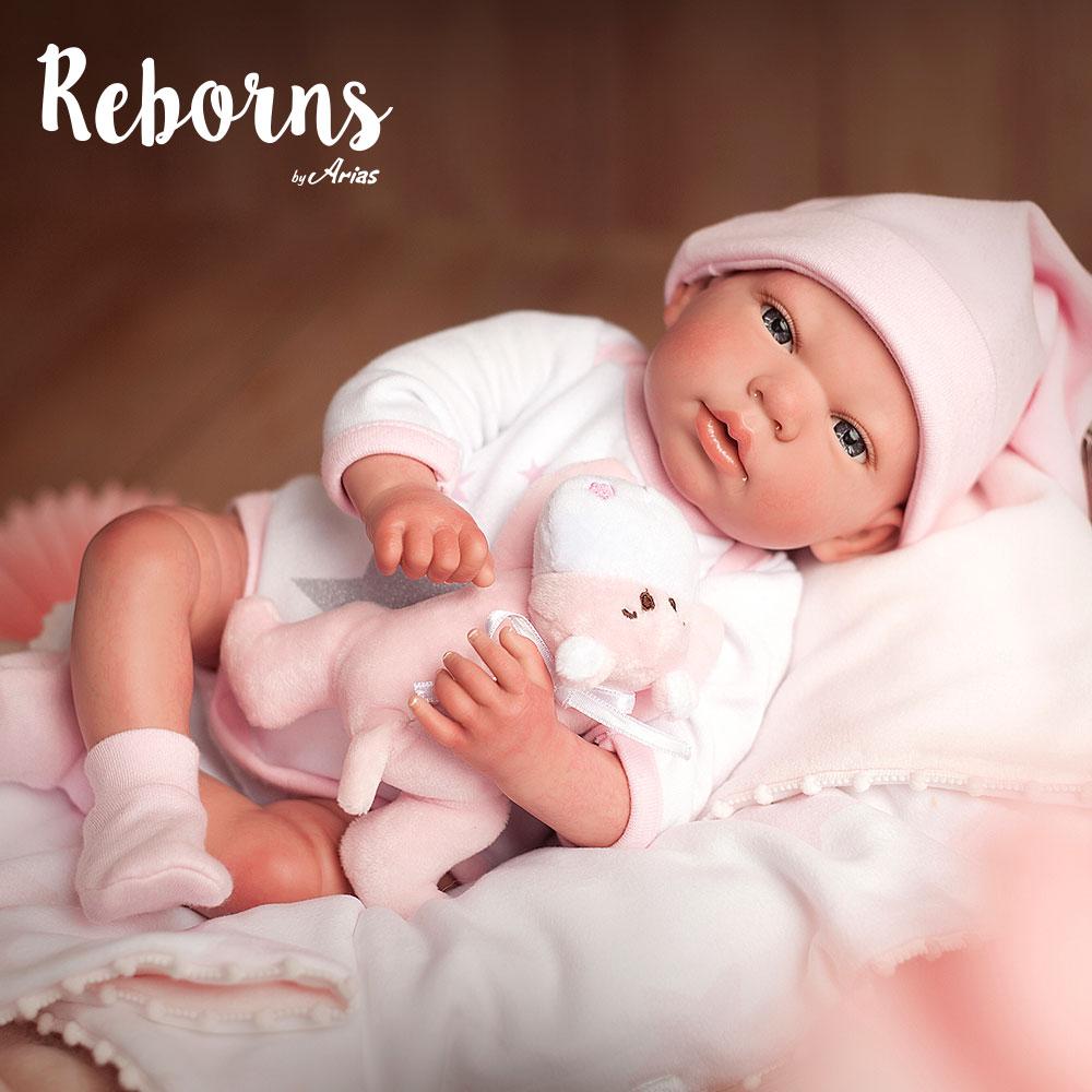 Купить Новорождённый пупс из серии Arias ReBorns - Gala, мягкое тело, 40 см., с соской, одеялом и игрушкой