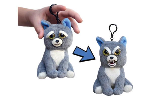 Мягкая игрушка Feisty Pets - Собака серая, 11 см, с карабином по цене 783