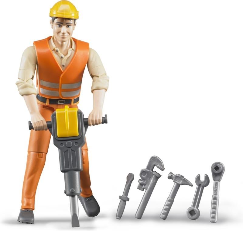 Bruder. Фигурка строителя с аксессуарамиАксессуары<br>Bruder. Фигурка строителя с аксессуарами<br>