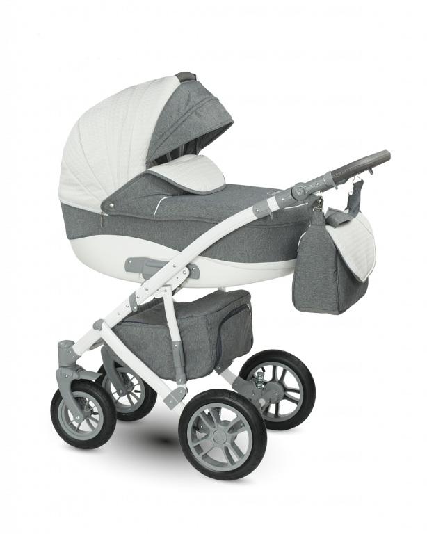 Детская коляска Camarelo Sirion 2 в 1, светло-серая меланжДетские коляски 2 в 1<br>Детская коляска Camarelo Sirion 2 в 1, светло-серая меланж<br>