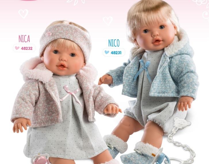 Купить Интерактивная кукла Нико 48 см., со звуком, Llorens Juan