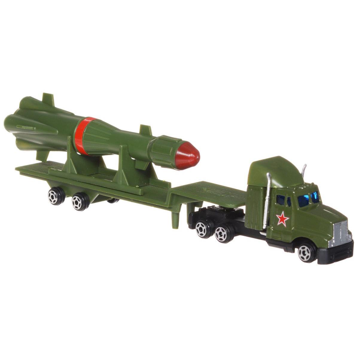 Трейлер металлический, 21 см., с ракетойВоенная техника<br>Трейлер металлический, 21 см., с ракетой<br>