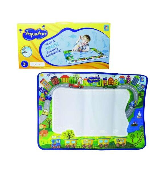 Купить Игровой коврик для рисования из серии AquaArt моноцветный зелёный 72 х 51 см. с водным маркером, 1TOY