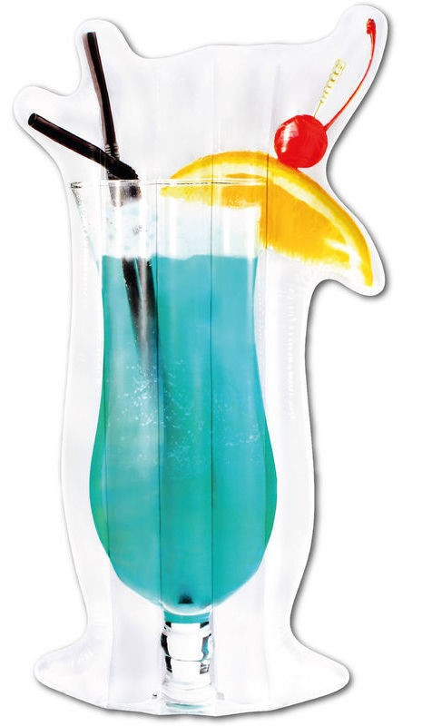 Надувной матрац – в виде коктейля Голубая Лагуна