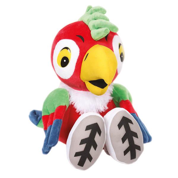 Мягкая игрушка Попугай Кеша в кроссовках, озвученный с русским чипом, 18 см.Игрушки Союзмультфильм<br>Мягкая игрушка Попугай Кеша в кроссовках, озвученный с русским чипом, 18 см.<br>