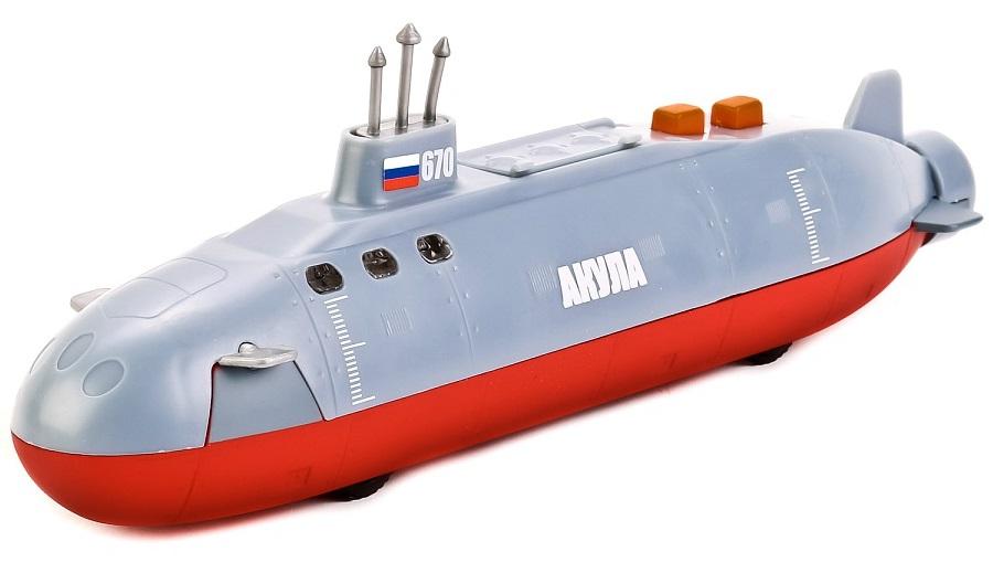 Модель инерционная – Подводная лодка Акула, 20 см., свет и звукВоенная техника<br>Модель инерционная – Подводная лодка Акула, 20 см., свет и звук<br>