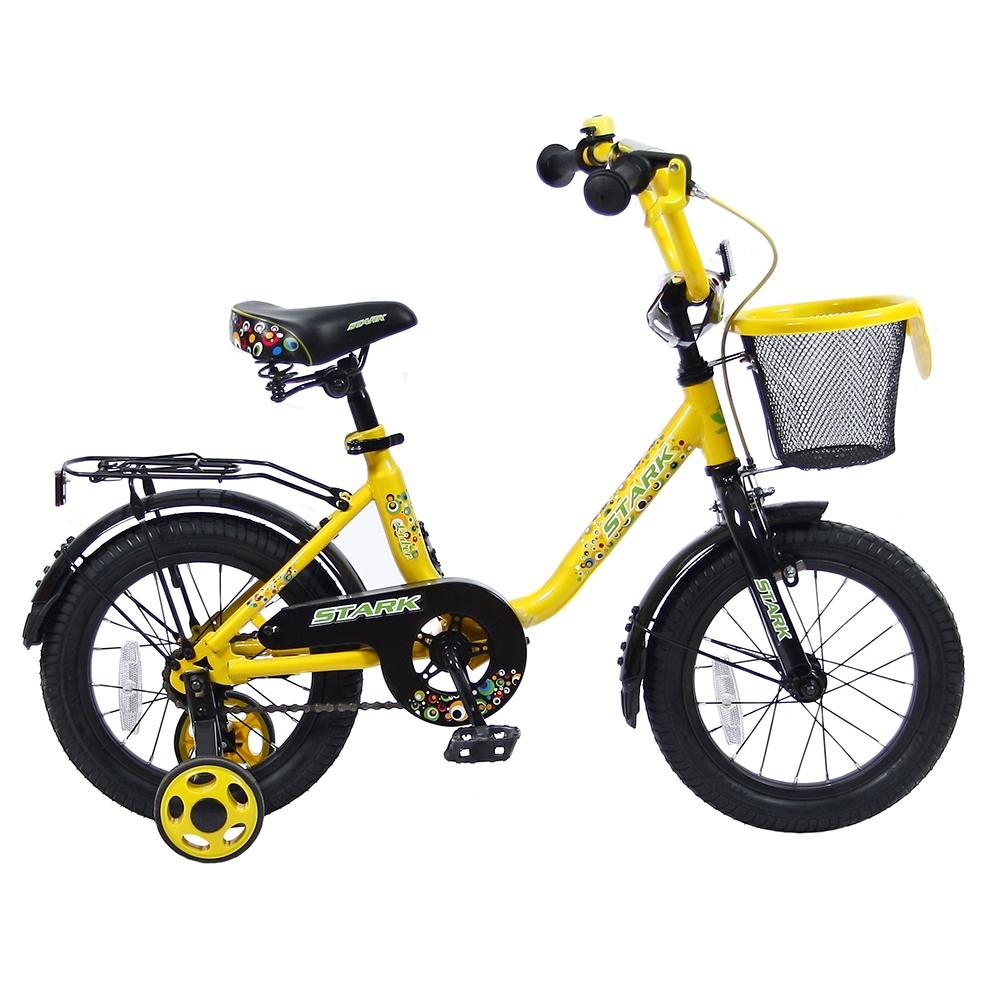 Двухколесный велосипед Lider shark, диаметр колес 14 дюймов, желтый/черныйВелосипеды детские<br>Двухколесный велосипед Lider shark, диаметр колес 14 дюймов, желтый/черный<br>