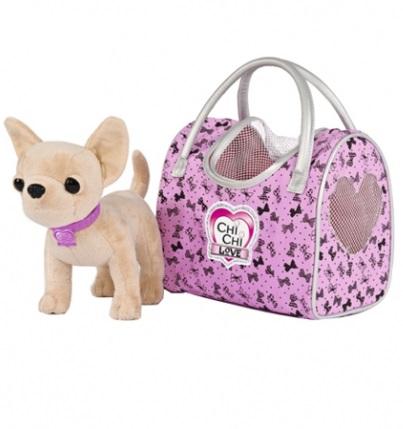 Плюшевая собачка Чихуахуа  Путешественница, 20 см - Chi Chi Love - cобачки в сумочке, артикул: 161343