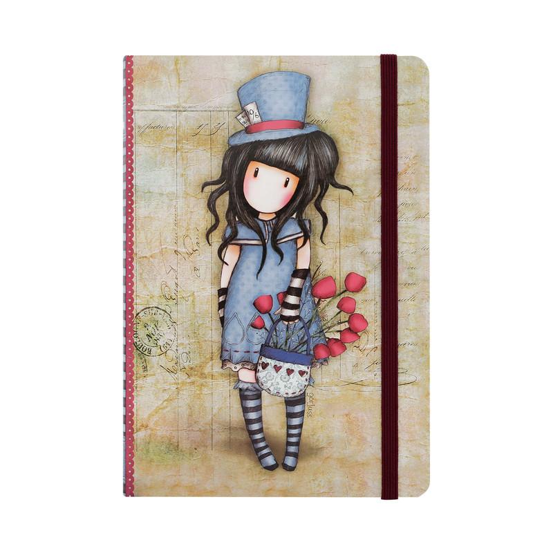 Блокнот в твердой обложке - The Hatter из серии GorjussGorjuss Santoro London<br>Блокнот в твердой обложке - The Hatter из серии Gorjuss<br>