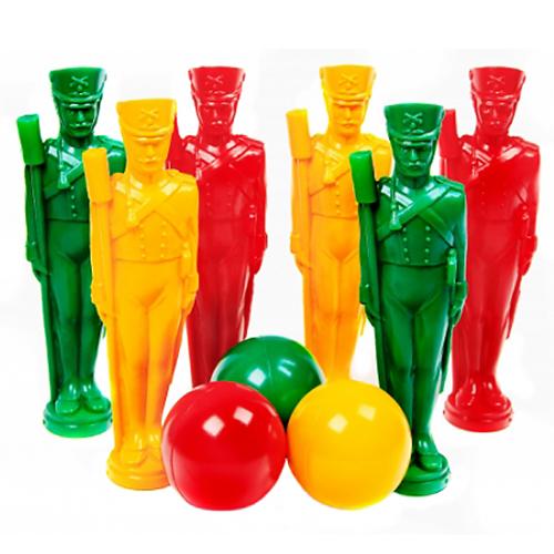 Кегли – Стратегия, 6 солдат и 3 шара фото