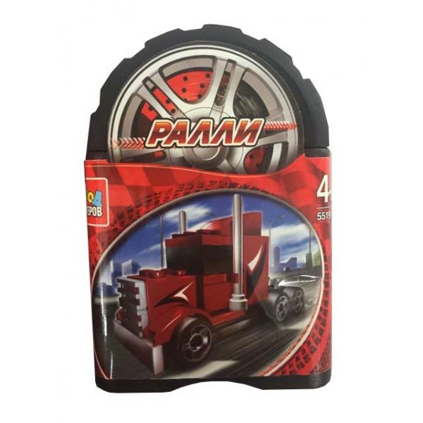 Купить Конструктор из серии Ралли – Спортивный грузовик, 54 детали в банке, Город мастеров