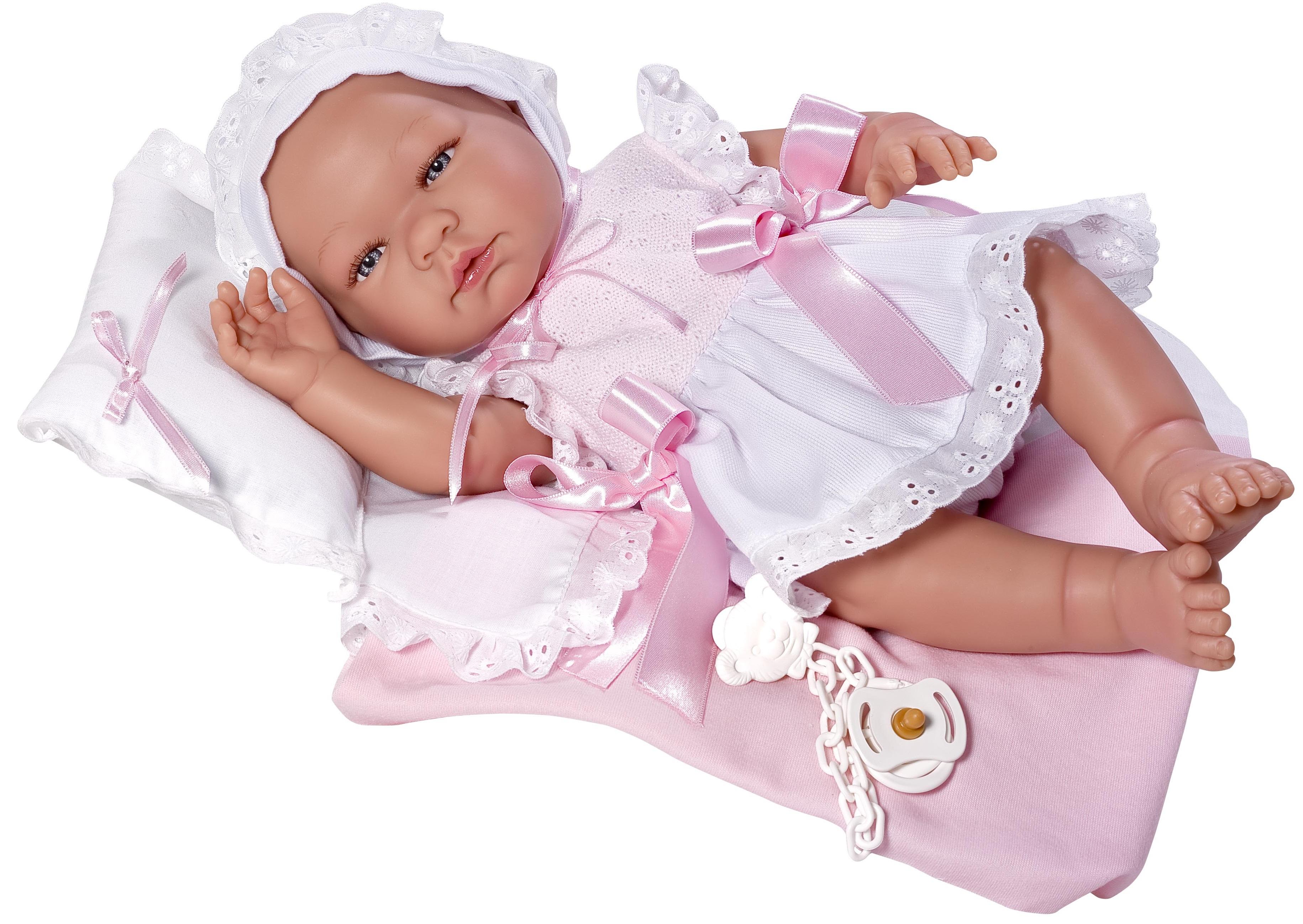 Кукла Мария с соской, подушкой и одеялом, 45 см.Куклы ASI (Испания)<br>Кукла Мария с соской, подушкой и одеялом, 45 см.<br>