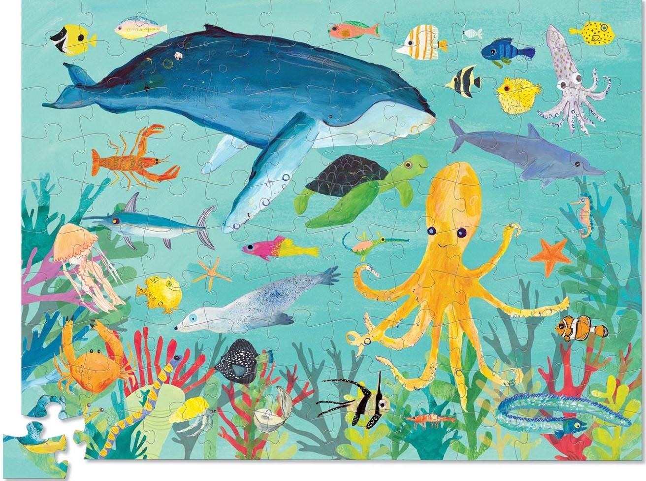 Купить Пазл – Животные океана. 100 деталей, Crocodile Creek