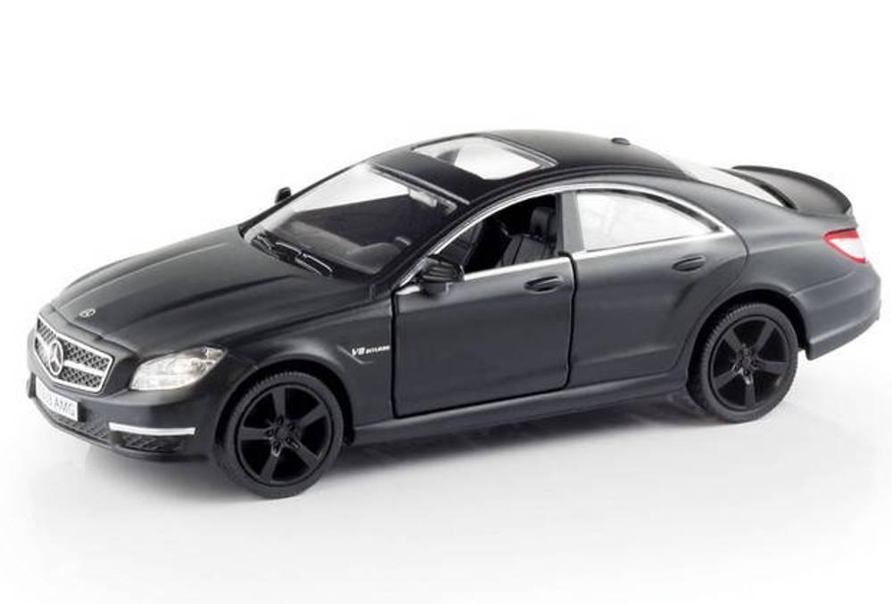 Металлическая инерционная машина RMZ City - Mercedes Benz CLS 63 AMG, 1:32, черный матовый от Toyway