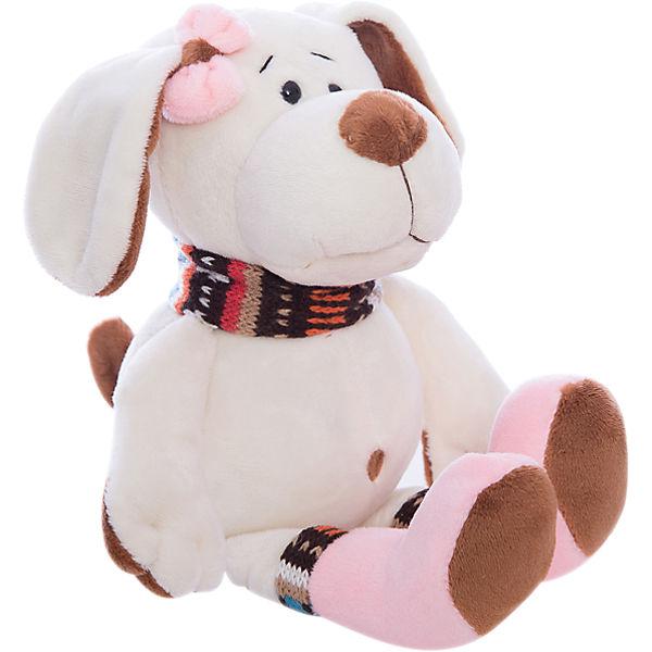 Купить Собака с розовым бантом, 17 см, Teddy