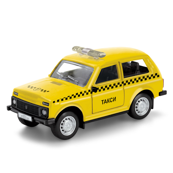 Купить Машинка металлическая Такси, открываются двери, Технопарк