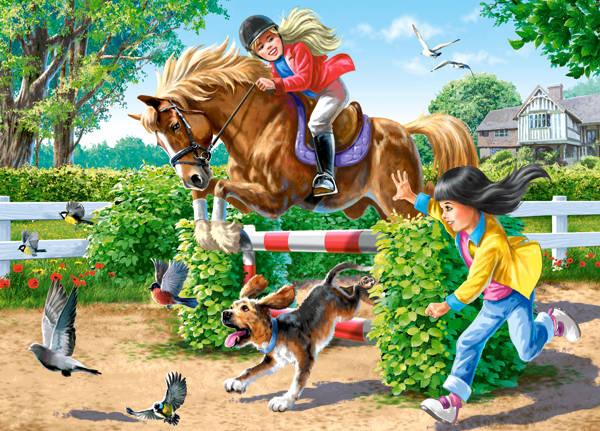 Пазл Castorland 180 элементов Верховая ездаПазлы<br>Пазл Castorland 180 элементов Верховая езда<br>