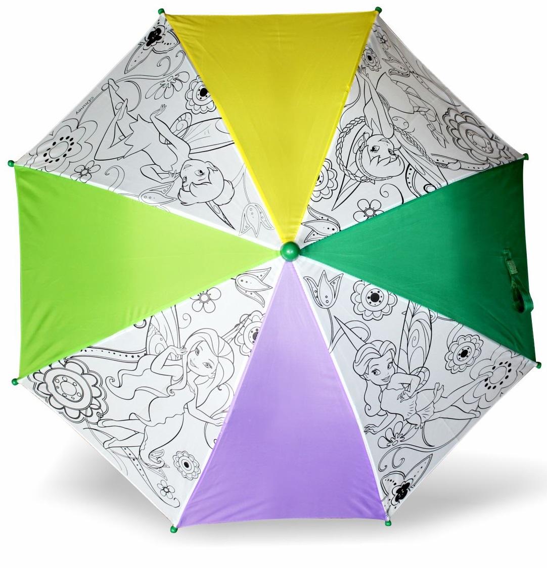 Зонтик для раскрашивания «Феи Disney. Динь-Динь с подругами»Детские зонты<br>Зонтик для раскрашивания «Феи Disney. Динь-Динь с подругами»<br>